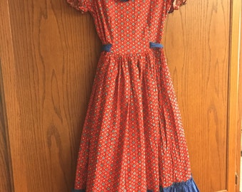 Square Dance Farm Dress Costume Small