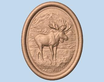 WOOD WALL ART ~ Moose Wall Decor  ~ Moose Wood Carving ~ Moose Decor Wall Hanging, Birthday Gift for him