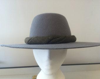 Felt Pilgrim Hat - Choice of colour and trim - made to measure