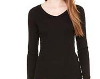 V-Neck Long Sleeve Fitted- Upgrade