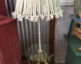 Vintage Metal Flower Lamp Table