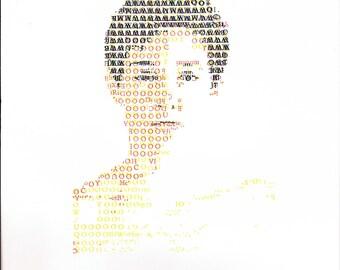 CMYK Letterpress Self Portrait - handset 12pt metal type