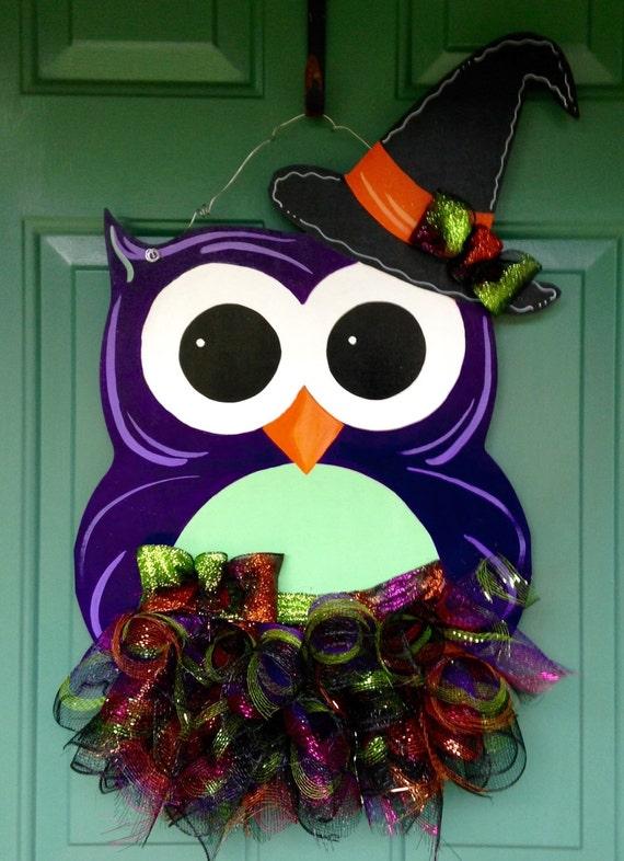 Halloween Owl Door Hanger Halloween Door Hanger Custom Door ~ 230255_Halloween Door Hanging