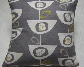 John Lewis Fabric Cushion Cover 'Seedheads' Grey