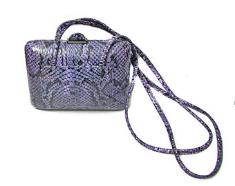 CHARLES JOURDAN, in python circa 80's vintage evening bag