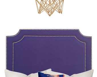 """Los Angeles pickup or drop off only *Our  """"Lucy"""" Headboard in Blue Linen"""