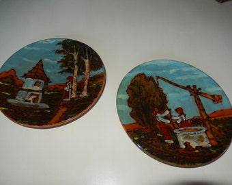 ROMANIA WOOD PLATE Wall Hangings