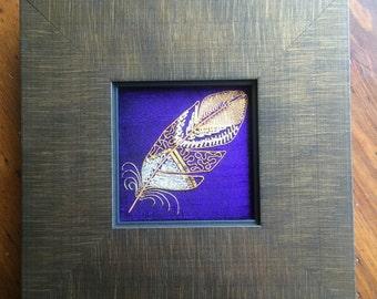 Goldwork feather