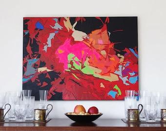 "Abstract Painting - Colour burst - 30""x21"" - ORIGINAL"
