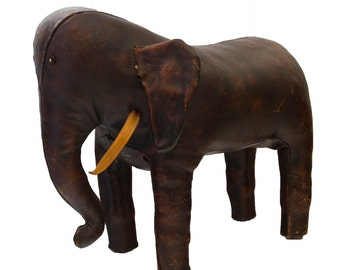Vintage Abercrombie & Fitch Omersa Elephant Ottoman