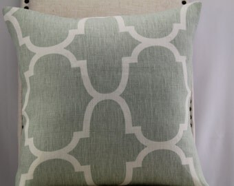 Windsor Smith for kravet seafoam linen pillow cover,throw pillow, accent pillow,decorative pillow,same fabric front and back