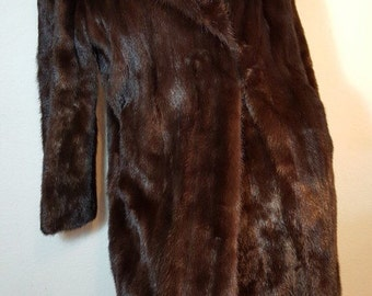 FREE  SHIPPING  Full Length Mink Fur Coat