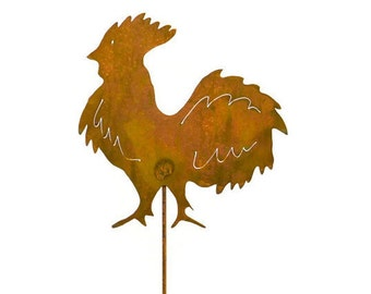 Rooster Metal Garden Stake, Yard Art GS25