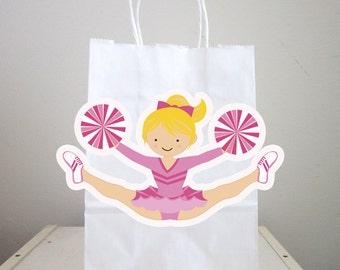 Cheerleading Goody Bags, Cheerleading Favor Bags, Cheerleading Gift Bags, Cheerleader Goody Bags