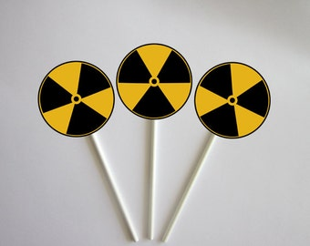 Mad Scientist Cupcake Toppers, Mad Scientist Birthday
