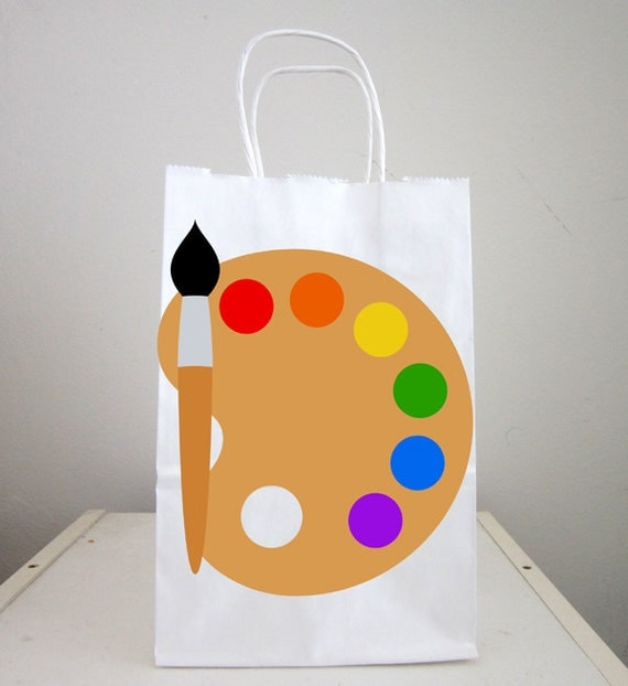 Art Party Goody Bags Painting Party Goody Bags Painting