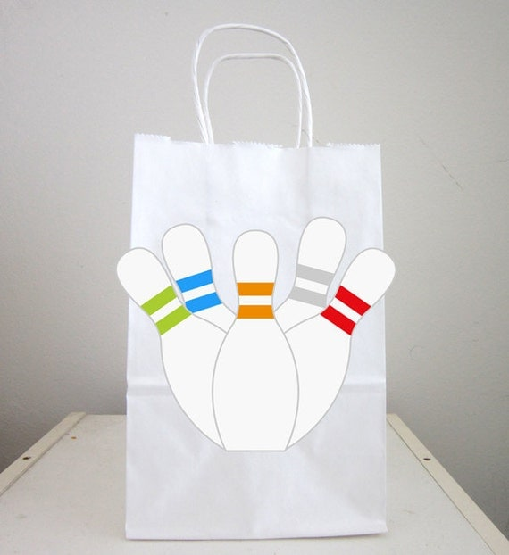 Bowling Goody Bags Bowling Favor Bags Bowling Gift Bags