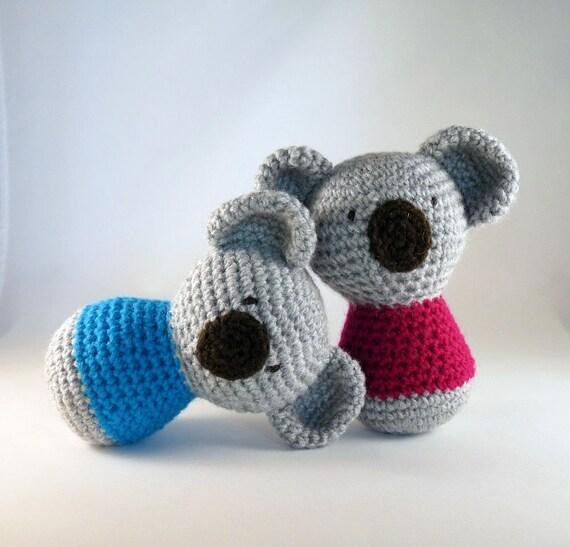 Crochet Koala Toy Amigurumi Koala Koala Bear Stocking