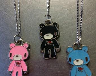 Gloomy Bear Charm Necklace (Silver)