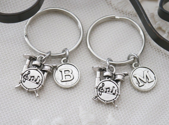 drums keychain personalized drums key chain by madiescharms. Black Bedroom Furniture Sets. Home Design Ideas