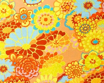 ASIAN CIRCLES  Orange GP89 Kaffe Fassett  Sold in 1/2 yd increments