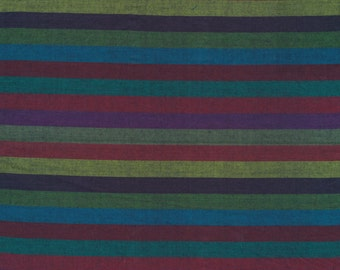 NARROW STRIPE  DARK Woven narrow.darkx  by  Kaffe Fassett fabric sold in 1/2 yard increments
