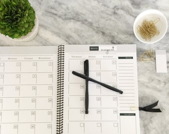 BLANK MONTHLY CALENDAR : Monthly Plan - Monthly To Do List - Instant Download - Customizable Planner Set