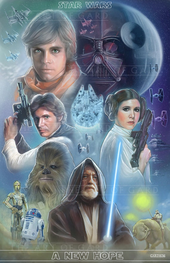Star Wars, A New Hope (collage) Art Print