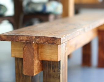 The Muscogee: Custom Bench from Salvaged Wood