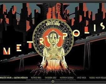 Metropolis Iconic 1927 Fritz Lang Silent Film A3 Poster Re Print