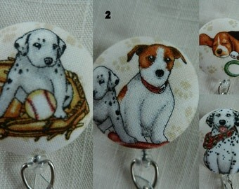 Cutest Puppies ever ~  Retractable ID, Name badge Holder Reels