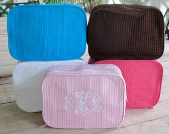 Large Cosmetic Case with monogram