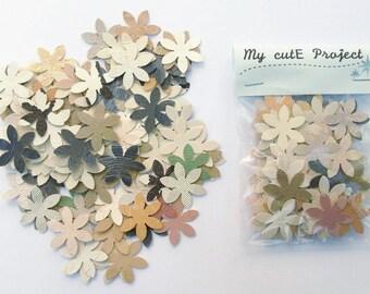 Confettis - 100 Flowers - Scrapbooking - Party confetti