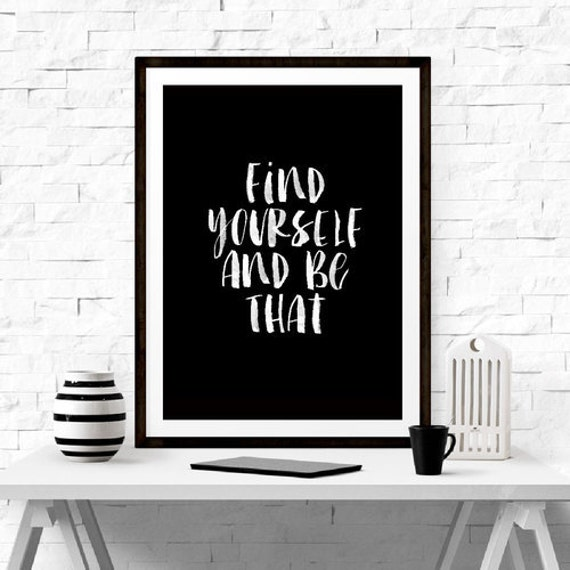 Items similar to find yourself office inspirational tumblr for Inspirational items for office