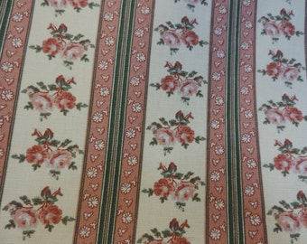 "1 printed pet bed cover Dog Duvet fits 1 standard sz pillow (19x25"")  mauve pink Green Rose stripe"