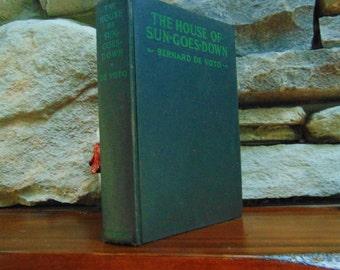 1928, The House of Sun Goes Down, Bernard De Voto, Vintage Book