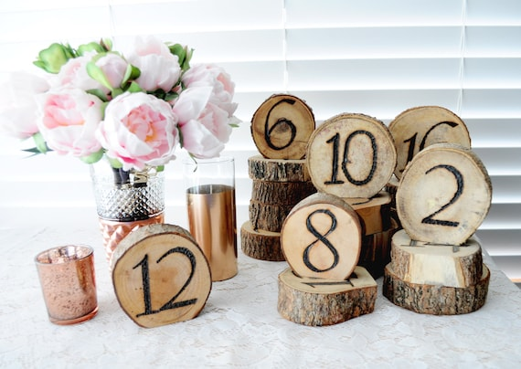 creative wood burned table numbers size