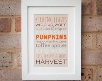 Autumn Favourites - Gicleé print