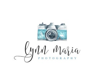 Photography Logo Watermark, Premade Vintage Camera Small Business Logo n076