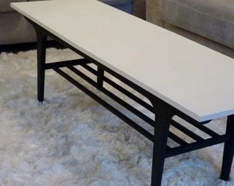 Made to order-Vintage, mid century, retro coffee table. Any colour, salvaged, upcycled, vintage, shabby chic, monochrome, painted furniture.