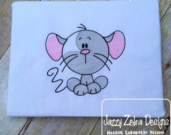 Mouse Sketch Embroidery Design