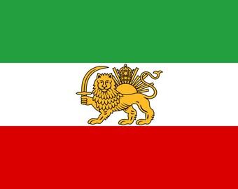 Persian Flag, Iranian Flag, Magnet