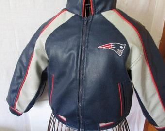 Just Like Dad NFL Patriots Jacket Boys sz L 7 Vintage Football Clothing New England Patriots Vintage NFL Logo HVrRb4TeK