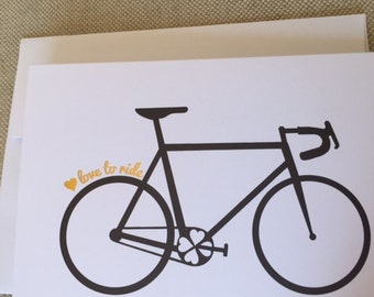 Let's Ride Bicycle Greeting Card - Cycling, Road bike, biking