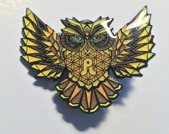 Pretty Lights Pin Sacred Geometry Owl - Red Rocks - 2016