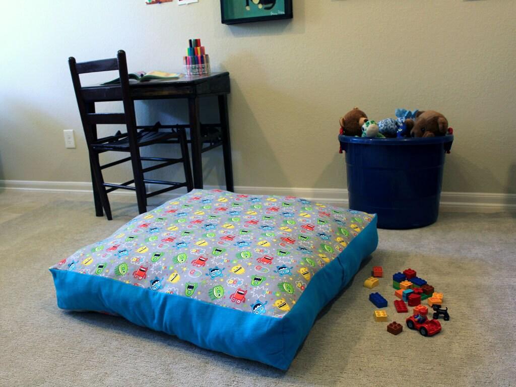 kids floor pillow floor cushion monster room by littleboyhowdy. Black Bedroom Furniture Sets. Home Design Ideas