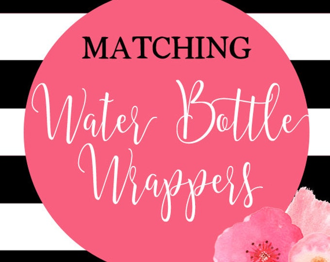 Water Bottle Wrappers, Party Water Bottle Wrappers, Printable Water Bottle Wrappers, DIY Printable, Made to Match Any Invitation in Shop