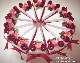 Cake Slice Boxes Cake Box Cake Slice Favors Cake Boxes Cake Slice Wedding Favors 100 Included