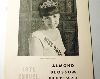 1967 Almond Blossom Festival Program Book, Quartz California.