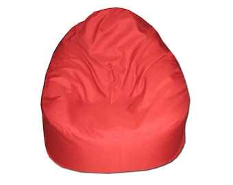 Adult bean bag chair cover, beanbag, red, relax